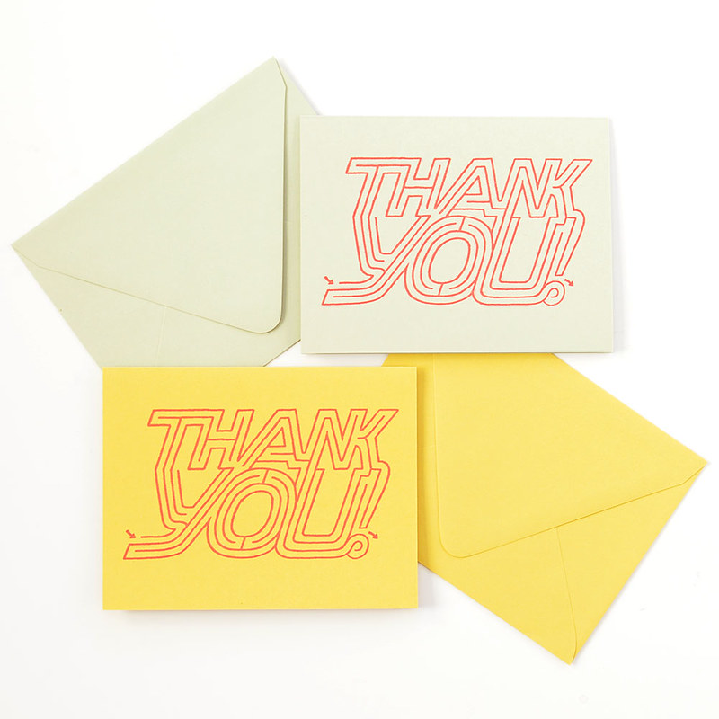 Thank You Maze Greeting Card