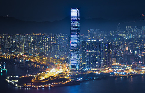 china longexposure hk skyline night skyscraper hongkong nikon view nightview thepeak 香港 icc 2485mm d7100 internationalcommercecenter