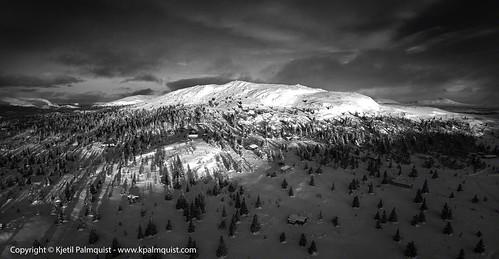 panorama sunrise landscape aerial rondane palmquist aerialimage venabygd trabelifjellet