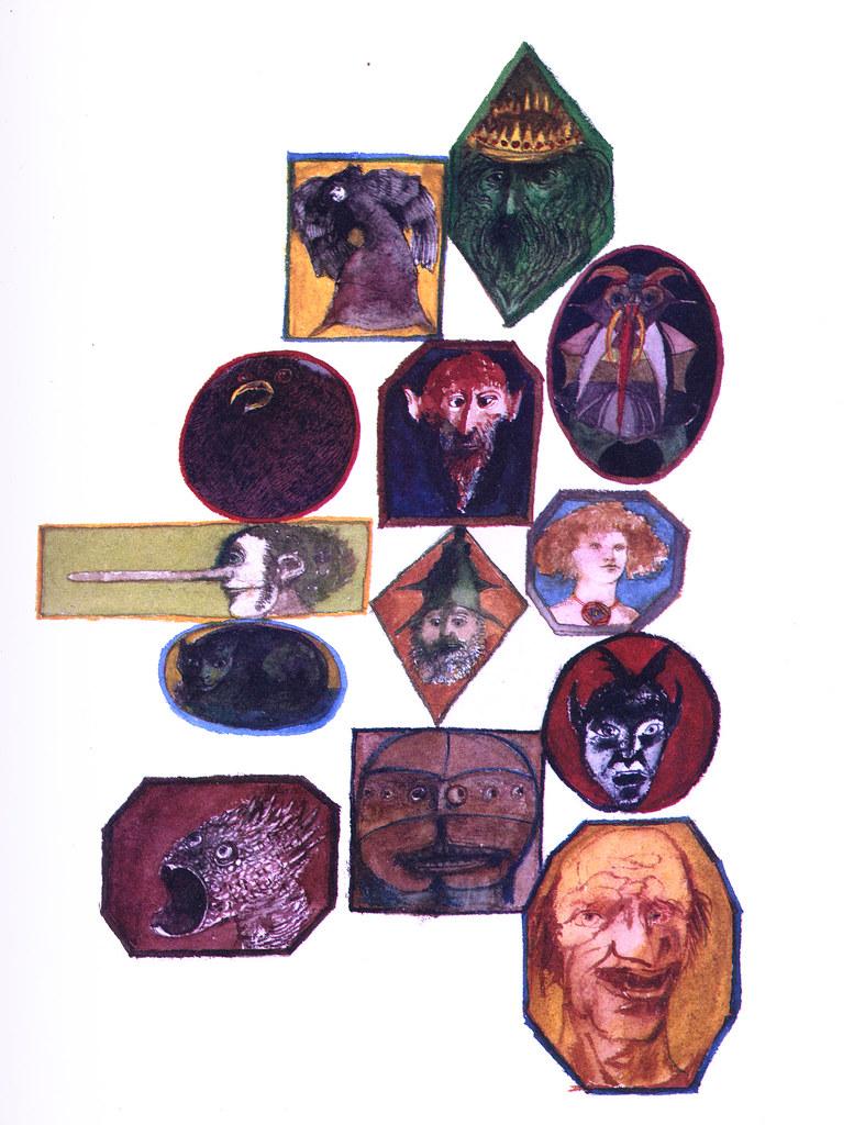 Leonard Baskin - Imps, Demons, Hobgoblins, Witches, Fairies and Elves, interior art