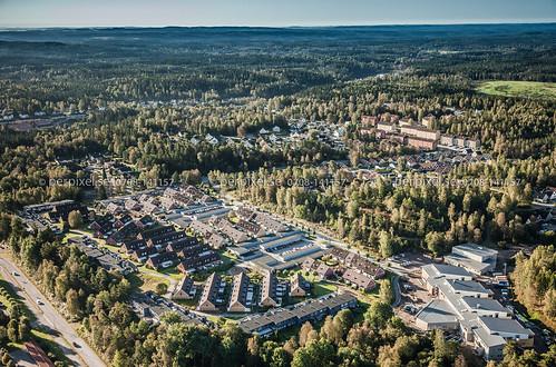 sverige swe västragötaland borås flygfoto