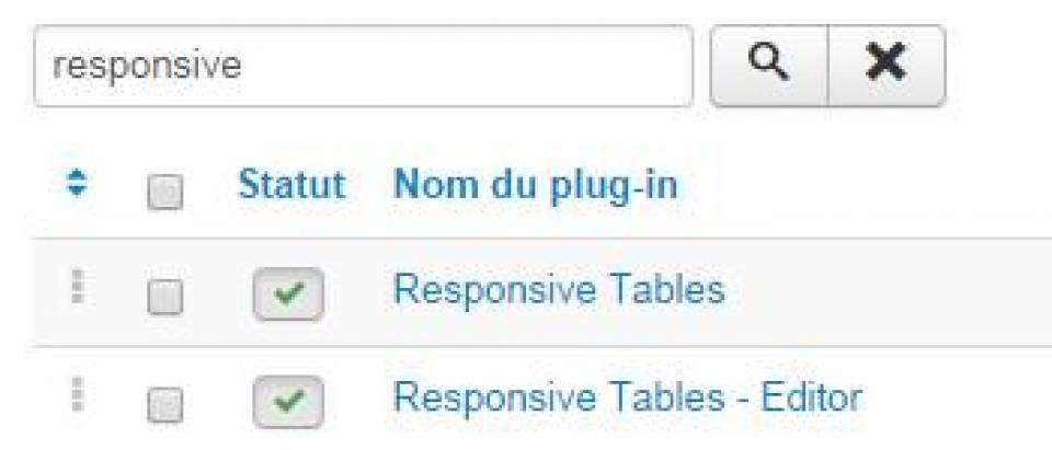 Responsive Tables - Editor