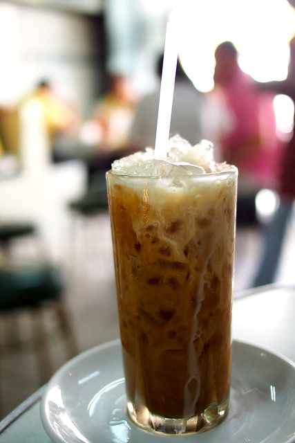 glass of iced Thai coffee, On Lok Yun, 72 Charoen Krung Rd, Bangkok, Thailand
