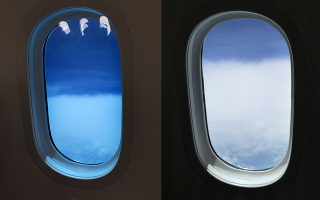 The Boeing 787 Electrochromic Window Shades are so cool!