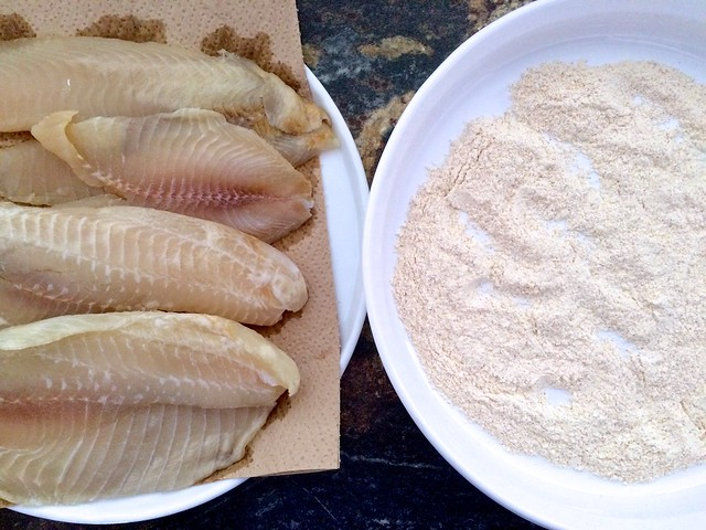 Tilapia Fillets and Dredging Flour