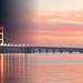 Mackinac Bridge Night and Day by daveumich