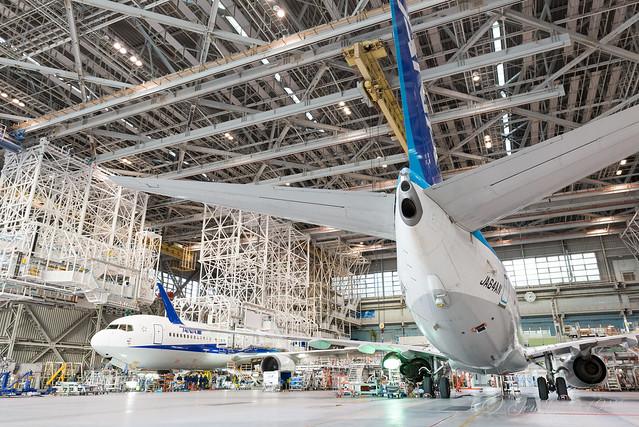 ANA機体工場見学