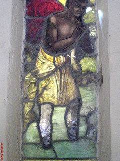 Stained glass in narthex, 2007, prior to damage