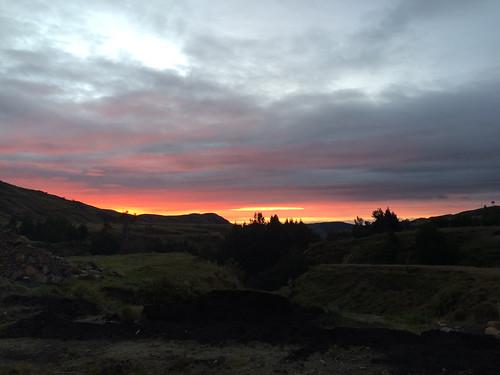 Quilotoa: coucher de soleil