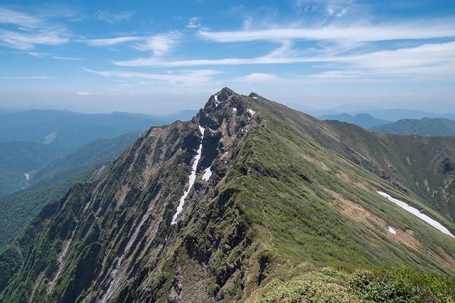 一ノ倉沢と谷川岳