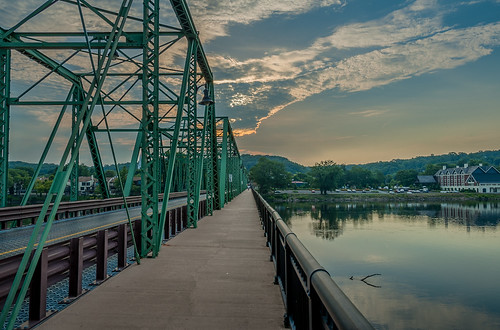 travel bridge river landscape us unitedstates pennsylvania newhope