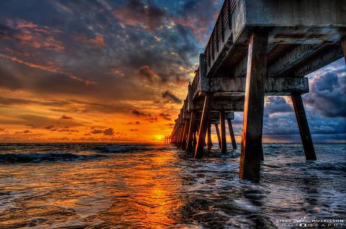 storm sunrise florida hdr highdynamicrange junobeachpier stevehuskisson
