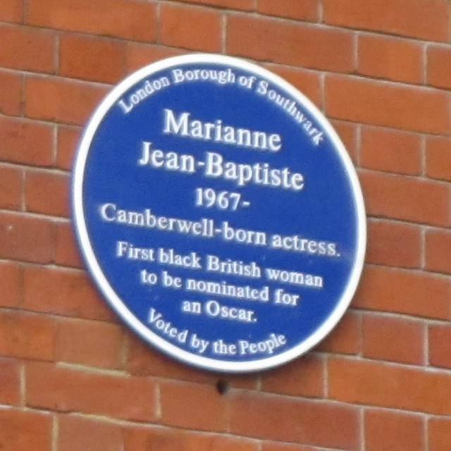 Photo of Marianne Jean-Baptiste blue plaque