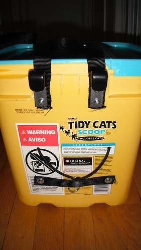 Indycog kitty litter bucket panniers