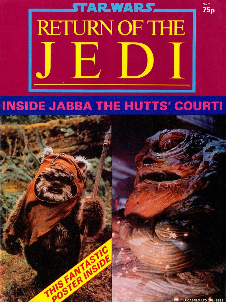 star wars return of the jedi poster magazine wicket ewok jabba the hutt