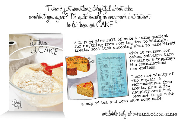 Let them eat Cake recipe zine