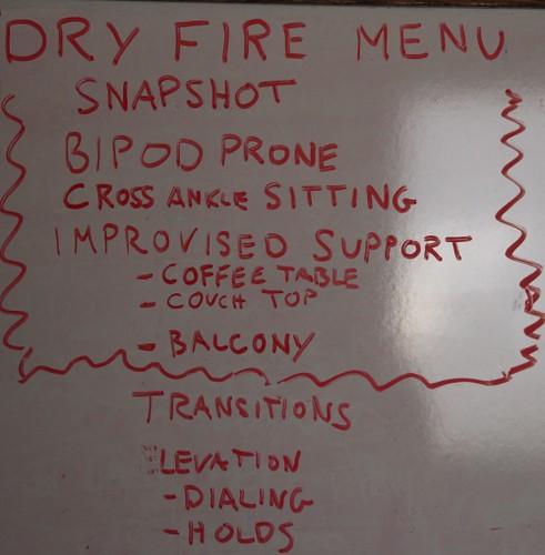 Dry Fire Menu