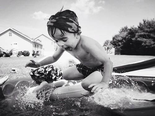 violent swimming