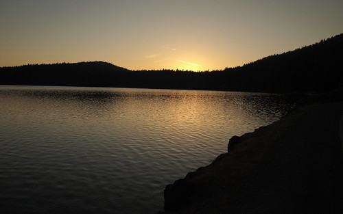 Alpine Lake Sunset