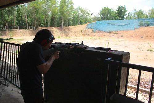 Dean shooting ak-47