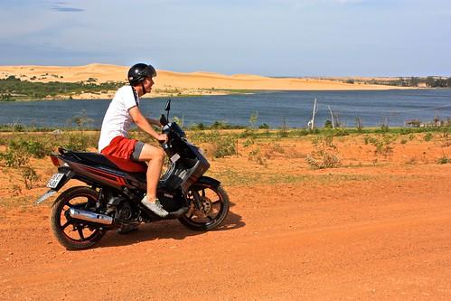 Dean's first motorbike ride