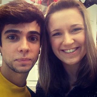 Alyssa with Souvenir Guy