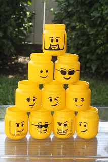 Amy's amazing Lego man cups for ice cream
