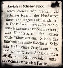 FC Schalke 04 - PAOK Saloniki: Ausschnitt aus dem WAZ-Artikel dazu