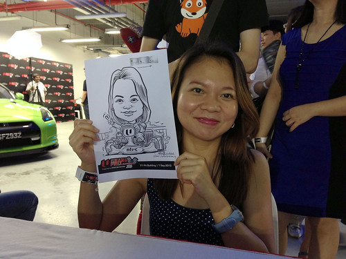 caricature live sketching for NTUC U Grand Prix Experience 2013 - 31