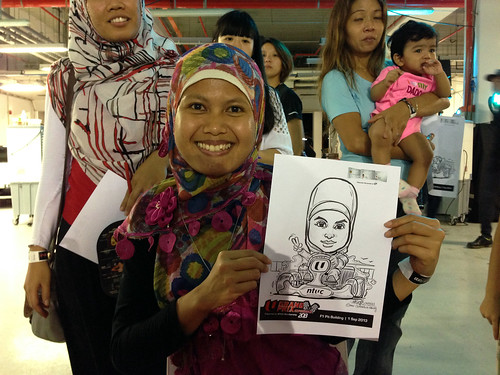 caricature live sketching for NTUC U Grand Prix Experience 2013 - 44