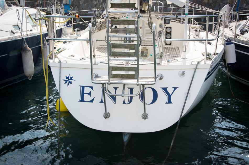 yacht boat called enjoy