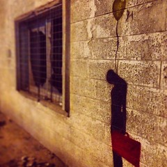 Unique art on abandoned  house.... #scary #bahrain #oldhouse #ghost #art