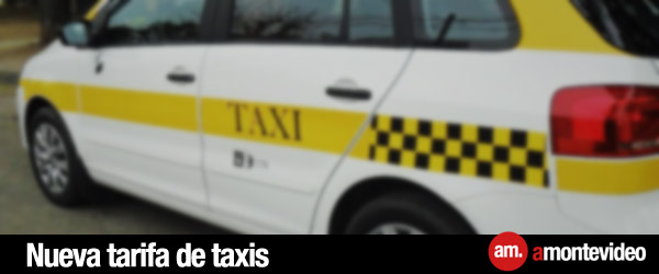Nueva tarifa de taxis Montevideo