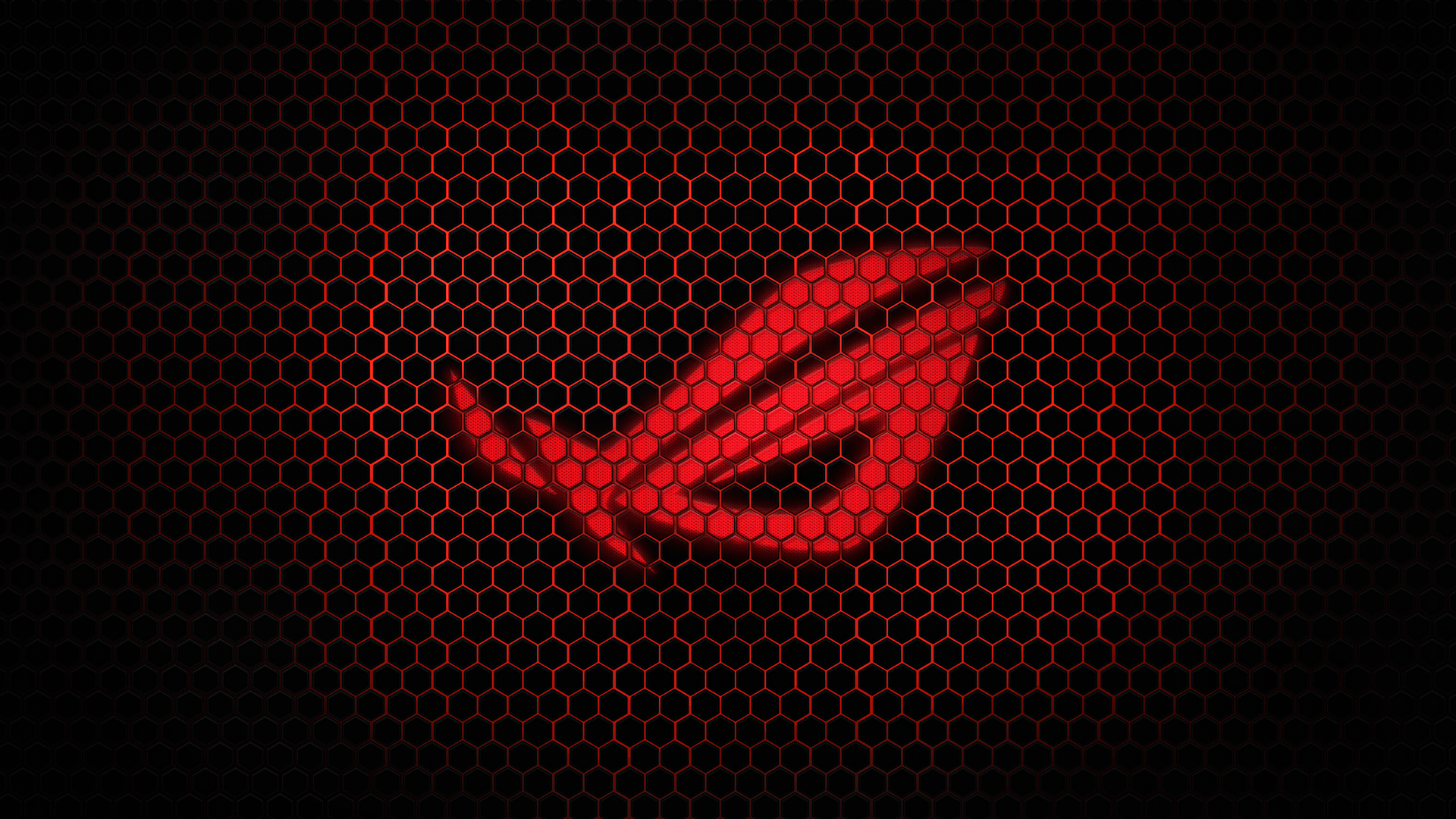 Red Asus Wallpaper: Red-Asus-ROG-Hexagon-1920x1080-HD-Wallpaper