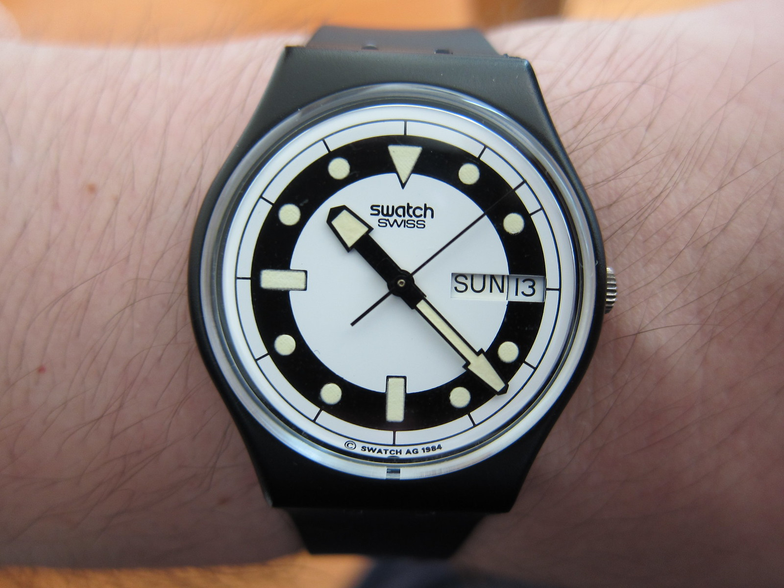 and watch here h diver design production watches any owners bandos the swatch switch