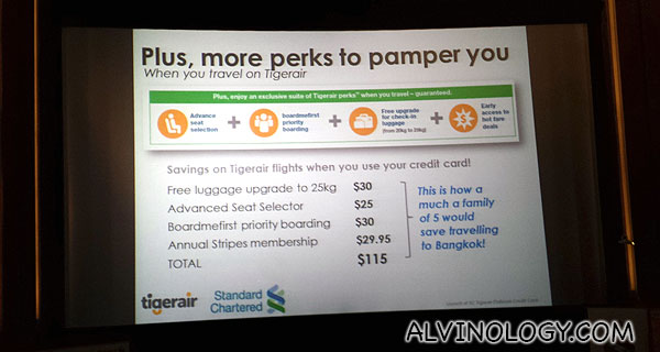 Complimentary travel perks for cardholders when flying with Tigerair