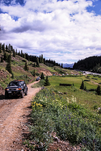 Lining up for Black Bear Pass