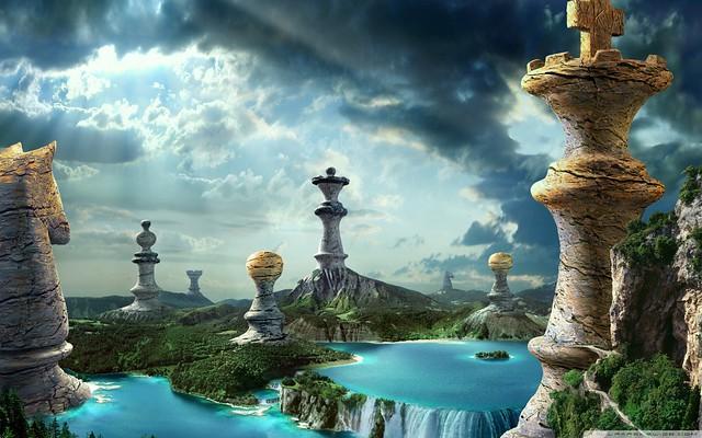 Fantasy Chess Art HD Desktop Wallpaper