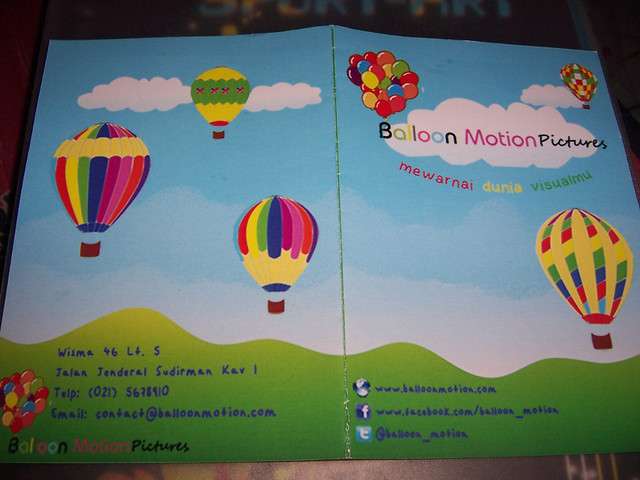 Brosur Balloon Motion Pictures