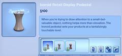 Ivoroid Retail Display Pedestal