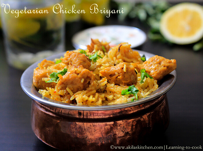 Mock chicken biryani