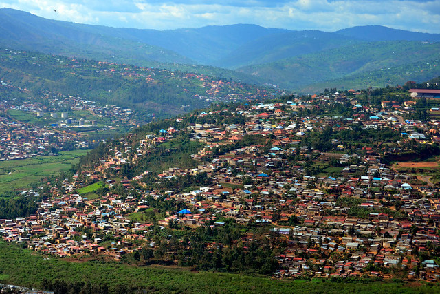 Scenic view from Kigali City Tower