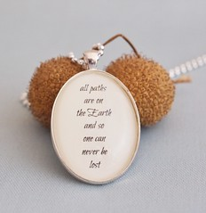 The Navigator, inspirational quote pendant