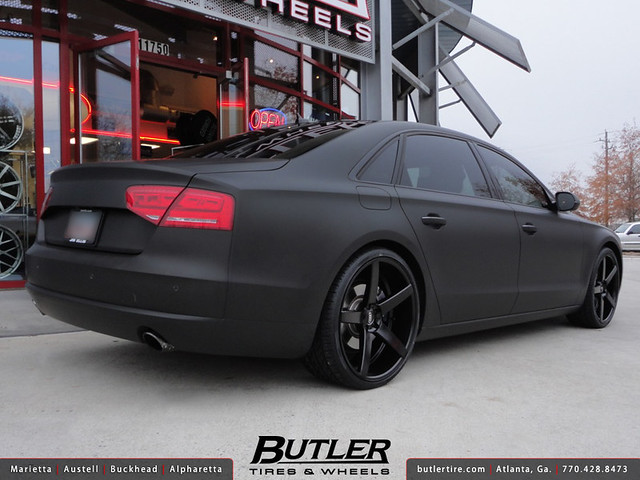 Matte Black Audi A8 With 22in Xo Miami Wheels Flickr