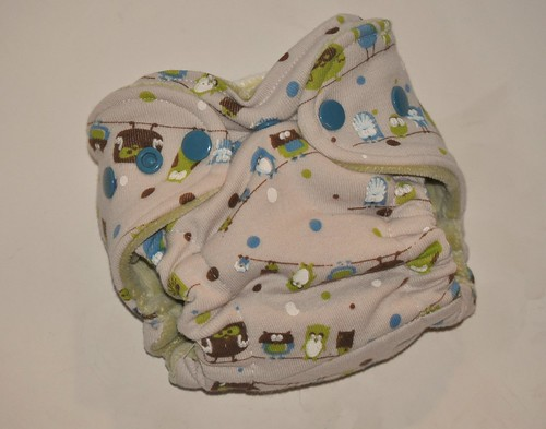 Bumstoppers Newborn Dotty owls Regular Fitted diaper