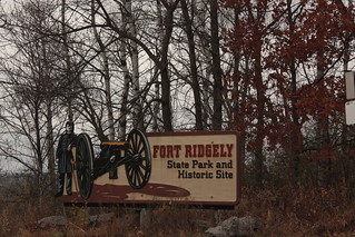 Fort Ridgely State Park sign