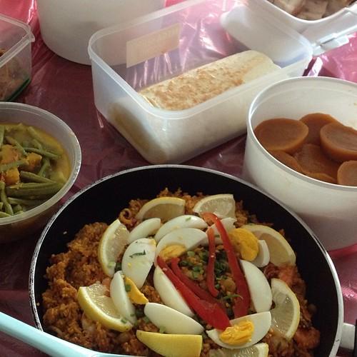 paella,pinakbet,brazo de mercedes and kutsinta