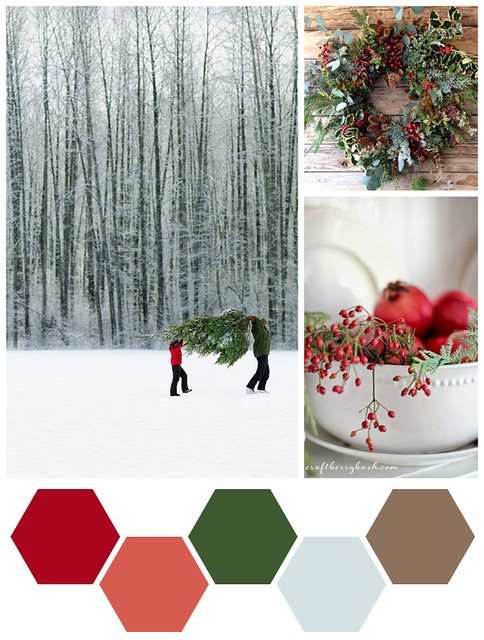 Color Me: Cranberry, Pomegranate, and Evergreen
