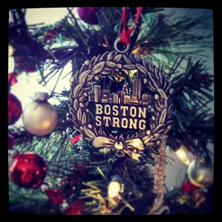Day 20 #yarnpadc Favorite Ornament. I have many, but this year's favorite new #ornament is my #BostonStrong one! #boston #mycity