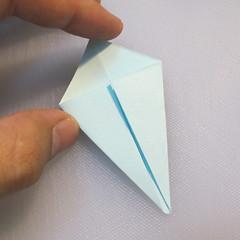 การพับกระดาษรูปดอกมอร์นิ้งกลอรี่ (Origami Morning Glory – アサガオの折り紙) 006